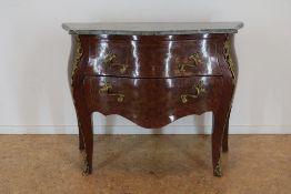 Noten Louis XV-stijl commode