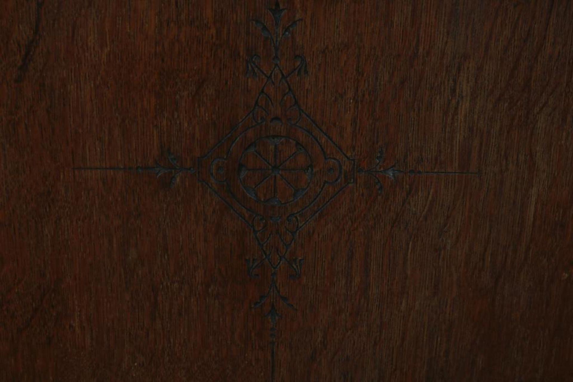 Eiken boekenkast met 3 paneeldeuren - Image 3 of 3