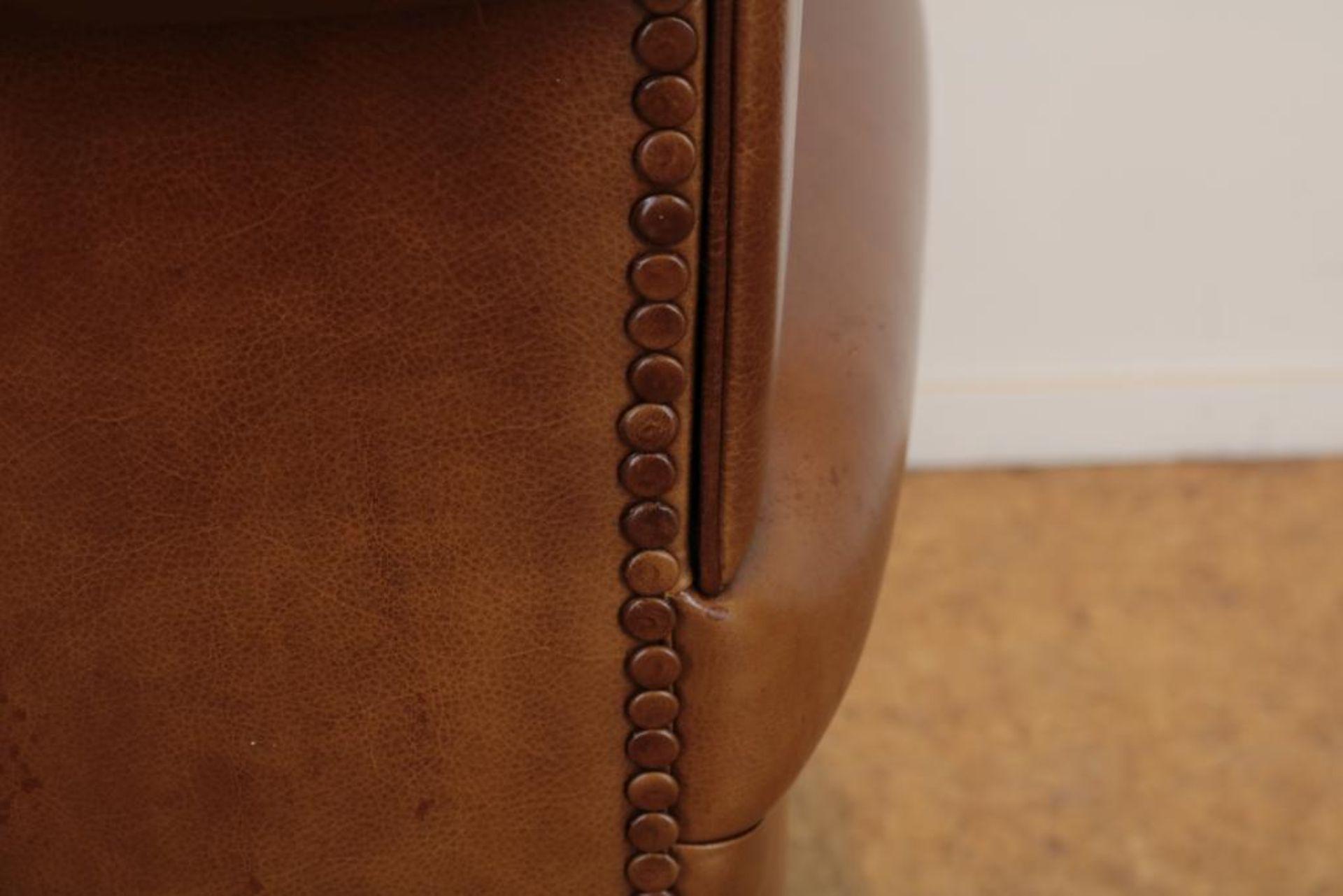Bruinlederen Baxter fauteuil - Image 3 of 5