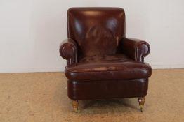 Bruinlederen Baxter fauteuil