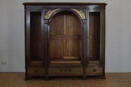 Mahonie boekenkasten met 2 deuren