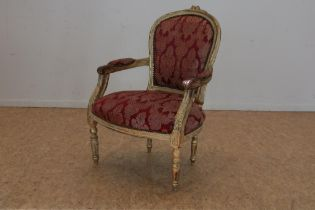 Mahonie Louis XV-stijl armstoel