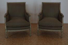 Stel Louis XVI fauteuils