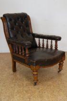 Mahonie Victoriaanse fauteuil