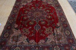 Tapijt, Tabriz 382 x 274 cm.