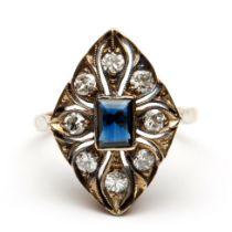 Zilveren en gouden ring
