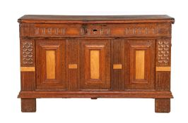 Antique oak blanket chest