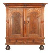 Solid oak 2-door gate cabinet