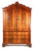 Early 19th century Dutch mahogany veneer cabinet