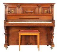 Neumeyer piano in oak cabinet
