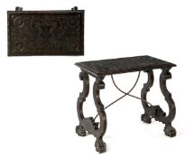 Spanish table with beautifully carved decoration