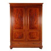 Mahogany 2-door linen cupboard