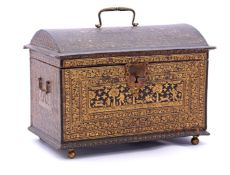Wooden lined box