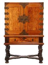 Colonial 2-part cross leg cabinet