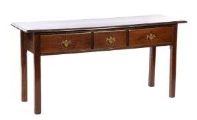 Oak English side table
