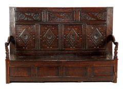 18th century solid oak bench