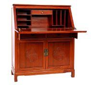 Rosewood flap desk