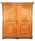 Solid oak 2-door linen cupboard
