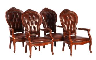 Series of 4 armchairs