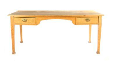 Solid oak desk table