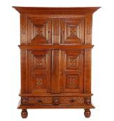 Oak Renaissance 4-door cabinet