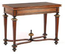 Rosewood veneer game table
