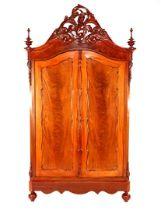 Walnut veneer cupboard