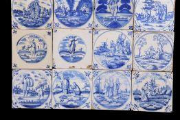 16 glazed earthenware tiles