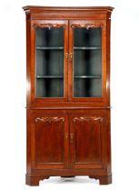 Oak 2-piece corner cupboard