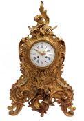 Fire-gilt bronze table clock