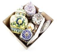 Box with Portuguese earthenware