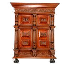 Oak Renaissance style cabinet