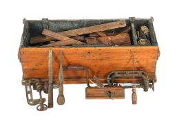 Box with various tools