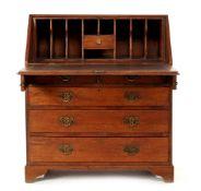 Solid oak flap desk