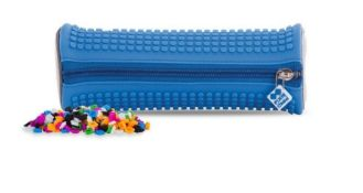 X15 BRAND NEW PIXEL CREW CREATIVE ROUNDED PENCIL CASE - LIGHT BLUE. TOTAL RRP £119.88
