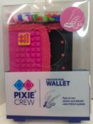 X 15 BRAND NEW PIXEL CREW CREATIVE WALLETS - BLACK & PINK. TOTAL RRP £187.35