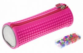 X15 BRAND NEW PIXEL CREW CREATIVE ROUNDED PENCIL CASE - PINK. TOTAL RRP £119.88