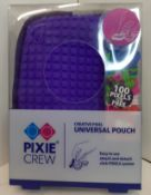 X 12 PIXEL CREW UNIVERSAL POUCH, THEY ALL COME WITH 100 PIXEL FOR FREE. THERE IS X 8 PINK & GRAY & X
