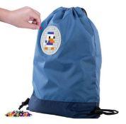 X15 BRAND NEW PIXEL CREW CREATIVE DRAWSTRING BAGS, BLUE. TOTAL RRP £119.88