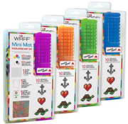 X 5 BRAND NEW WAFF MINI MAT WITH ITS CREATIVE KIT. IN DIFERENT COLOURS. TOTAL RRP £155.60