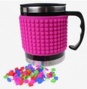 X15 BRAND NEW PIXEL CREW CREATIVE THERMO MUGS - PINK. TOTAL RRP £155.88