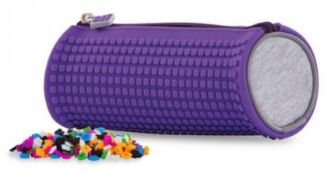 X15 BRAND NEW PIXEL CREW CREATIVE ROUNDED PENCIL CASE - PURPLE. TOTAL RRP £119.88