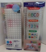 X 12 BRAND NEW PIXEL CREW A4 LARGE MOSAIC PANEL, WITH SMALL PIXELS OF ALPHABET, NUMBER, AND