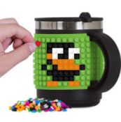 X13 BRAND NEW PIXEL CREW CREW THERMO MUGS - GREEN. TOTAL RRP £155.88