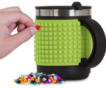 X15 BRAND NEW PIXEL CREW CREATIVE THERMO MUGS - LIME GREEN. TOTAL RRP £155.88