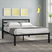 WICK BED FRAME. SIZE SUPPER KING (6'') SOLID METAL. RRP £172.99