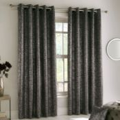 BLOCKOUT THERMAL CHARCOAL CURTAINS SIZE: 229CM W X229CM D. RRP £65.99
