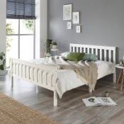 AADI BED FRAM SIZE SMALL DOUBLE (4') COLOUR WHITE. RRP £117.09