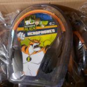 X 6 BRAND NEW BEN 10 ULTIMATE ALIEN HEADPHONES; NOT SO LOUD DESIGNED WITH KIDS IN MIND. TOTAL RRP £
