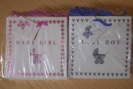 X 30 BRAND NEW BABY GIRL & BABY BOY GIFT BAGS